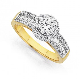 18ct-Two-Tone-Diamond-Ring-Total-Diamond-Weight125ct on sale