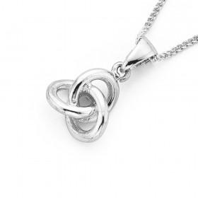 Silver-Knot-Pendant on sale