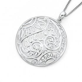 Sterling-Silver-Fern-Pendant on sale