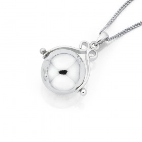 Sterling-Silver-Spinner-Ball-Pendant on sale