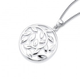 Sterling-Silver-Leaf-Pendant on sale