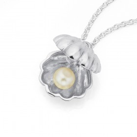 Sterling-Silver-Scallop-Shell-with-Pearl-Pendant on sale