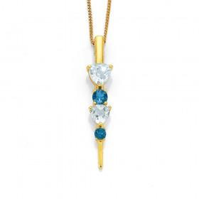 9ct-Shades-of-Blue-Topaz-Diamond-Pendant on sale