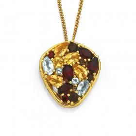 9ct-Multi-Gemstone-Pendant on sale