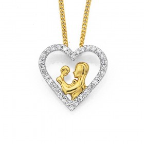 9ct-Mother-Child-Pendant on sale