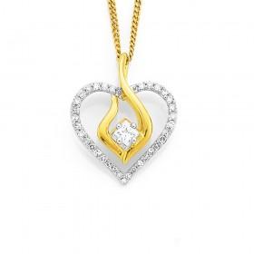 9ct-Diamond-Set-Fishoook-Pendant on sale