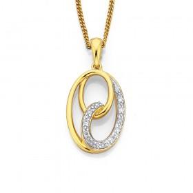 9ct-Diamond-Set-Swirls-Pendant on sale