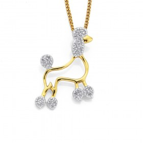 9ct-Diamond-Set-Poodle-Pendt on sale