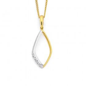 9ct-Diamond-Set-Pendant on sale