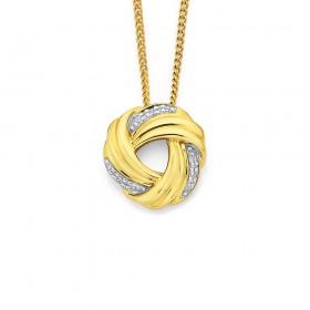 9ct-Diamond-Set-Knott-Pendant on sale