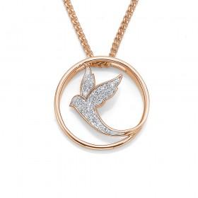 9ct-Rose-Gold-Diamond-Set-Pendant on sale