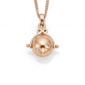 9ct-Rose-Gold-Diamond-Ball-Pendant on sale
