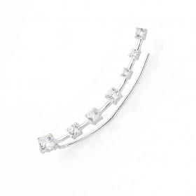 Sterling-Silver-Cubic-Zirconia-Single-Ear-Climber on sale