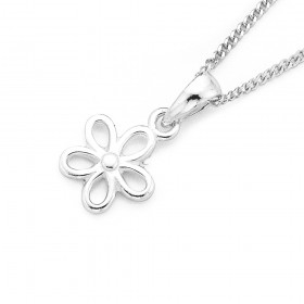Flower-Pendant-in-Sterling-Silver on sale