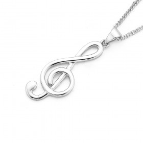 Treble-Clef-Musical-Note-Pendant on sale