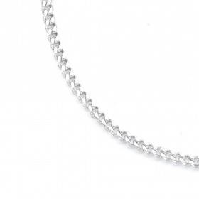60cm-Bevelled-Diamond-Cut-Curb-Chain-in-Sterling-Silver on sale