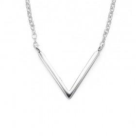Sterling-Silver-V-Shape-Necklet on sale