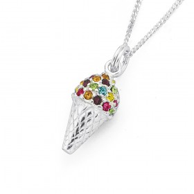Crystal-Ice-Cream-in-Sterling-Silver on sale