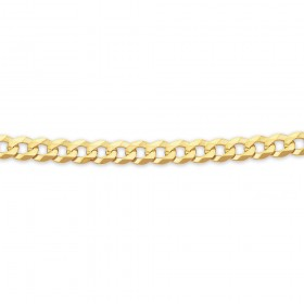 Solid-9ct-60cm-Flat-Bevelled-Curb-Chain on sale