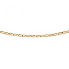 9ct-50cm-Fine-Oval-Belcher-Chain on sale
