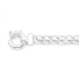 Sterling-Silver-19cm-Oval-Fancy-Link-Bracelet on sale