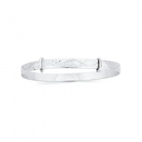 Adult-Engraved-Expanding-Bangle-in-Sterling-Silver on sale