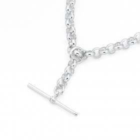 Silver-50cm-Belcher-Chain-with-T-Bar-Fob on sale