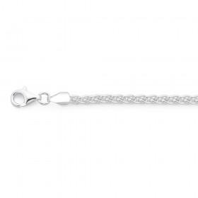 Sterling-Silver-20cm-Wheat-Chain-Bracelet on sale