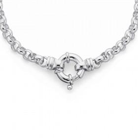 Sterling-Silver-19cm-Belcher-Bracelet on sale