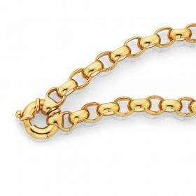 9ct-19cm-Solid-Oval-Belcher-Bracelet on sale