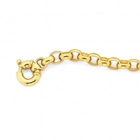 9ct-20cm-Belcher-Bolt-Ring-Bracelet on sale