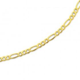 9ct-Gold-25cm-Figaro-31-Anklet on sale