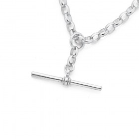 Sterling-Silver-50cm-Oval-Belcher-Chain-with-T-Bar-Fob on sale