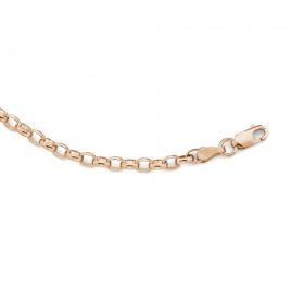 9ct-19cm-Rose-Gold-Oval-Belcher-Bracelet on sale