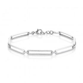 9ct-White-Gold-Linear-Diamond-Bracelet on sale