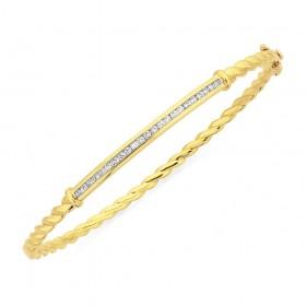 9ct-Diamond-Twist-Bangle-Total-Diamond-Weight34ct on sale