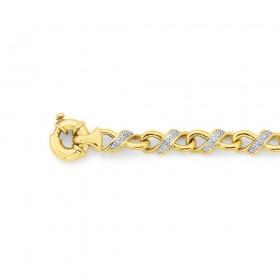 9ct-Infinity-Diamond-Bracelet-Total-Diamond-Weight25ct on sale