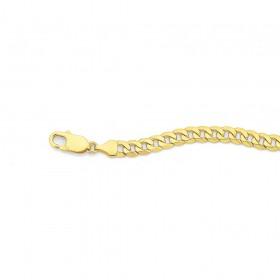 9ct-22cm-Flat-Curb-Bracelet on sale