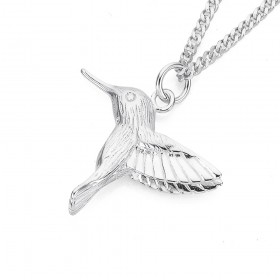 Hummingbird-Charm-in-Sterling-Silver on sale