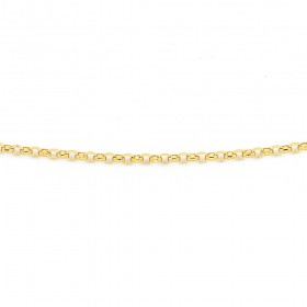 45cm-Fine-Oval-Belcher-Chain-in-9ct-Yellow-Gold on sale