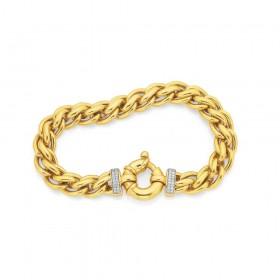 9ct-20cm-Diamond-Set-Bracelet-TDW15ct on sale