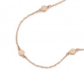 9ct-Rose-Gold-19cm-Disc-Chain-Bracelet on sale