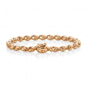 9ct-Rose-Gold-Stirrup-Link-Bracelet on sale
