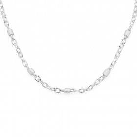 Sterling-Silver-45cm-Twist-Bar-and-Cable-Chain on sale