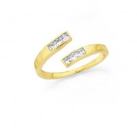 9ct-Cubic-Zirconia-Toe-Ring on sale