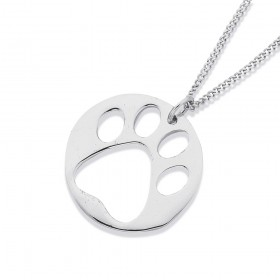 Sterling-Silver-Paw-Pendant on sale