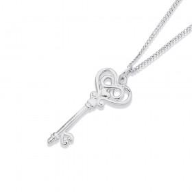 Sterling-Silver-Key-Pendant on sale