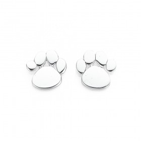 Sterling-Silver-Paw-Print-Studs on sale
