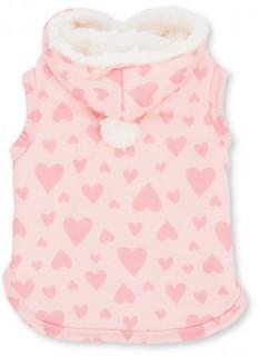 Bond-Co-Heart-Print-Cosy-Dog-Hoodie-Pink on sale