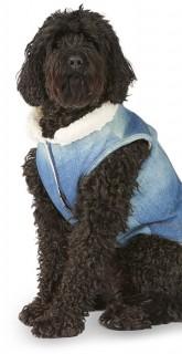 Bond-Co-Denim-Sherpa-Dog-Jacket-Blue on sale